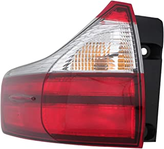 KarParts360: Fits 2015 2016 2017 2018 TOYOTA SIENNA Tail Light Assembly Driver (Left) Side w/Bulbs Replaces TO2804123