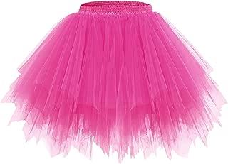 bridesmay Tutu Damenrock Tüllrock 50er Kurz Ballet Tanzkleid Unterkleid Cosplay Crinoline Petticoat für Rockabilly Kleid
