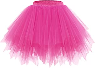 Bridesmay Women's Halloween Tutu Skirt 50s Vintage Ballet Bubble Dance Skirts for Cosplay Party