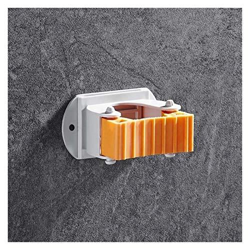 Estante Almacenamiento Organizador de la cocina montado en la pared del estante del sostenedor del cepillo de almacenamiento Mop Lampazos de colgar titular soporte de fregona con el gancho de baño Org