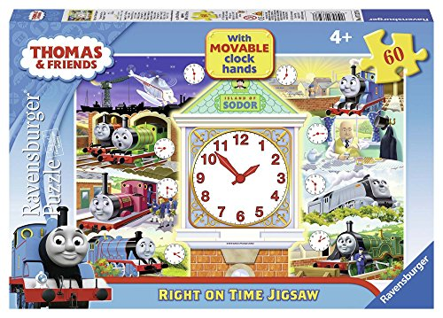 Thomas the Tank Engine - Right on Time (60 PC puzzel with Movable Clock Hands)
