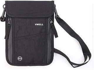 Vwell Neck Travel Wallet & Passport Holder with RFID Blocking for Men and Women