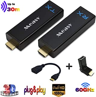 measy W2H Nano Wireless uncompressed Mini HDMI Extender Transmitter and Receiver up to 30m/100feet Plug and Play Without C...