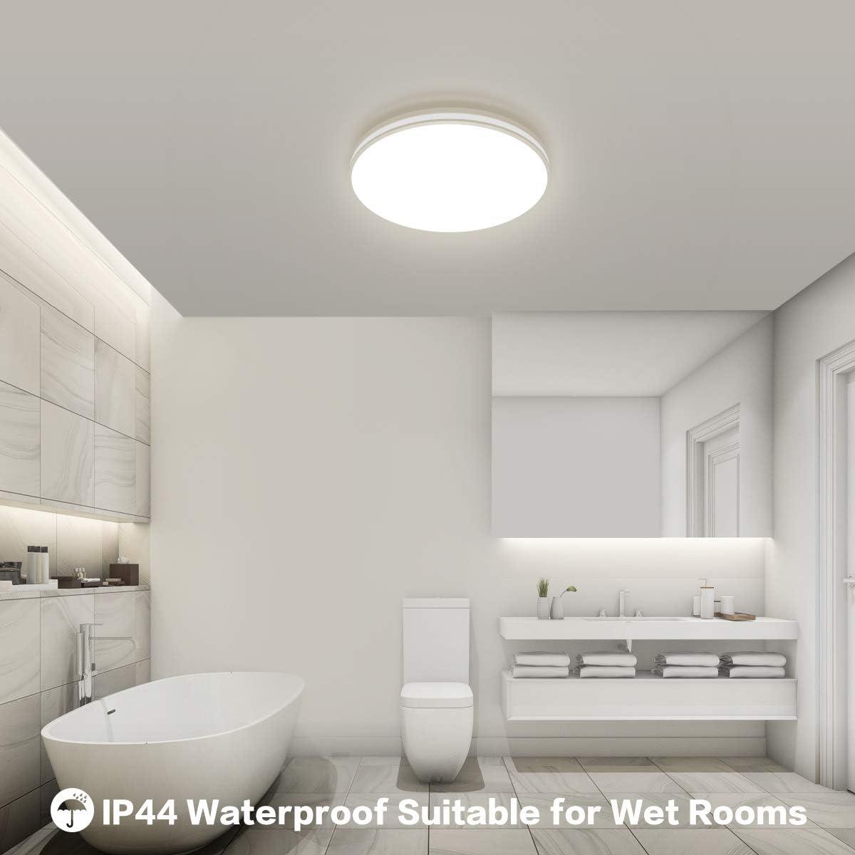 Deckenlampe LED Deckenleuchte Badezimmer Lampe Öuesen 20W 20LM ...