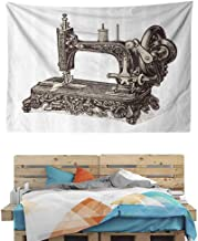HuaWuChou Old Sewing Machine Tapestry Art Abstract, 3D Vision Nature Tree Tapestry Wall Hanging, 10W x 8L Inches