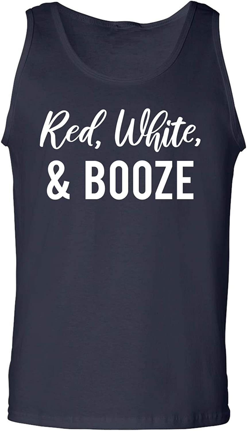 Red, White & Booze Adult Tank Top