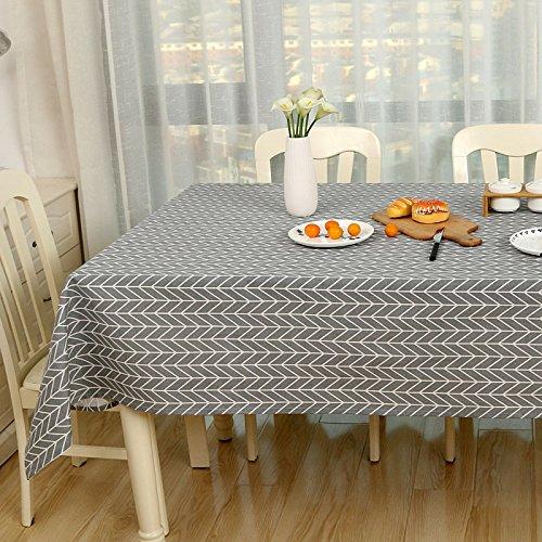 WEN-Nappes Nappe de style européen simplicité Nappe multi-usages Coton et lin Petite famille fraîche Table de salle à manger Comptoir de télévision Thé Housse de table Tissu