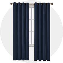 Deconovo Cortinas Dormitorio Moderno Térmica Aislante con Ojales 2 Piezas 117 x 229 cm Azul Marino