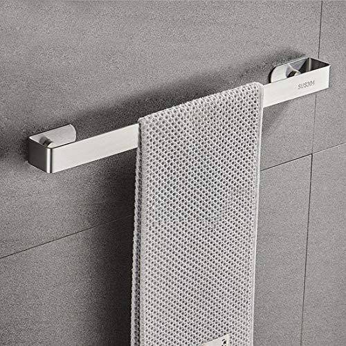 DMAXUN Portasciugamani da bagno 40cm/16 pollici SUS 304 Portasciugamani in acciaio inossidabile montato a parete (Argento-Fissaggio a vite)