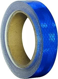 VViViD High Intensity Industrial Grade Honeycomb Pattern Reflective Vinyl Tape (1 Inch x 30ft, Blue)