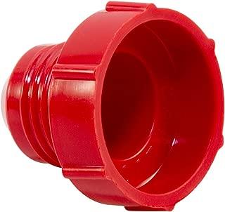 Caplugs Plastic Threaded Plug for Flared JIC Fittings. PD-30, PE-HD, to Plug Thread Size 3/8-24
