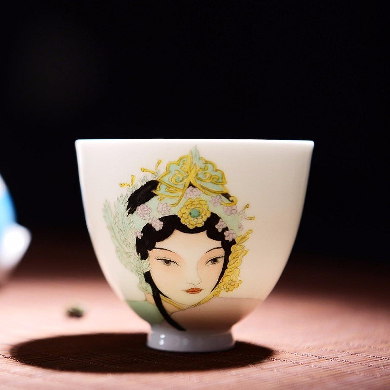 SSBY Tasses artisanat Jingdezhen thé kung fu seul quintessence peint à la main en céramique tasse de thé facebook