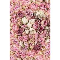 Konpon 150x 220cm, color rosa flores algodón poliéster lavable a fondo para estudio de fotografía recién nacidos fondo de fotografía de estudios bebé accesorios boda Drop kp-415