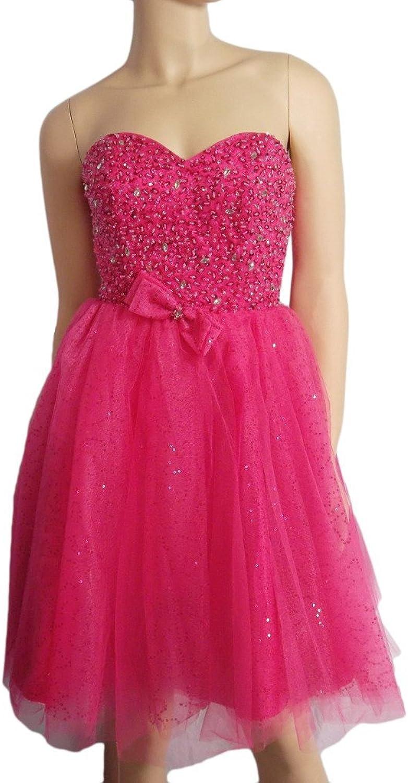 Alivila.Y Fashion Strapless Mesh Sequins Homecoming Dress B8221