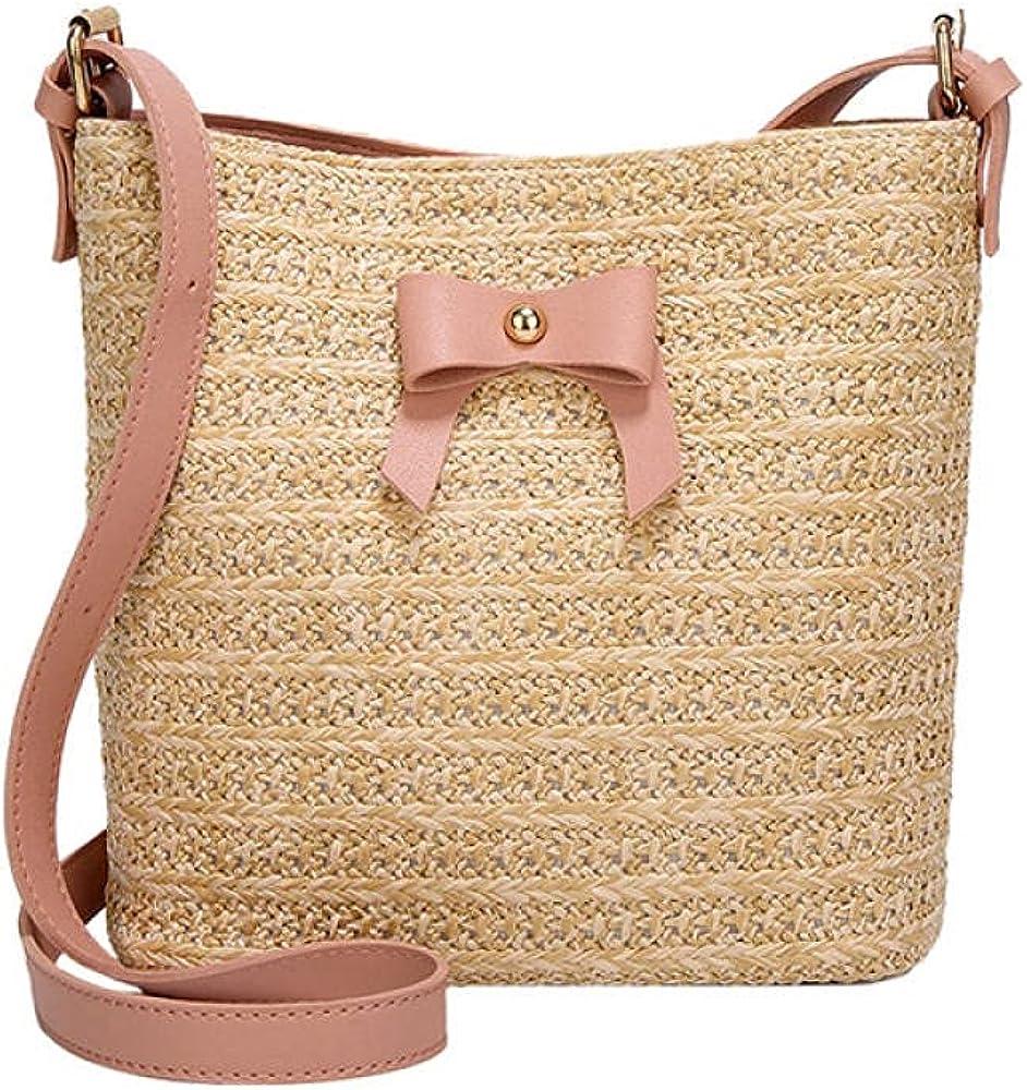 Women Summer Bow Straw Bags Beach Max 77% OFF Travel Handbag Popular Female Ranking TOP2