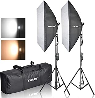Emart Photography Softbox Lighting Kit, Photo Equipment Studio Softbox 20