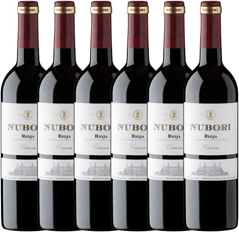 Nubori Crianza Vino D.O. Ca. Rioja - 6 botellas de 750 ml - Total: 4500 ml
