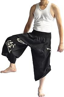 Men's Japanese Style Pants One Size Black Japanese Design
