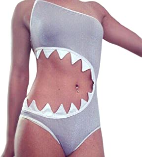 sandbank Women's One Piece Shark's Mouth Swimsuit Bikini Beachwear Tankini