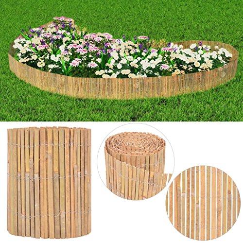 Festnight Gartenzaun Bambus Sichtschutzzaun Gartendekor Bambuszaun 1000×30 cm