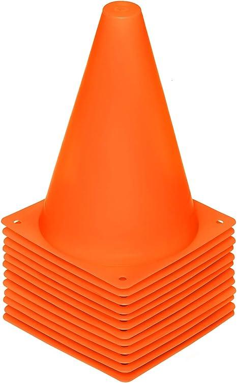Amazon.com : REEHUT 7.5 Inch Plastic Sport Training Traffic Cone (Set of 12, Orange) : Sports & Outdoors
