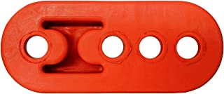 PitVisit Premium 4 Hole Exhaust Hanger Mount Bushings High Density Rubber Insulator Shock Absorbent Replacement Support Bracket for Tail Pipe Exhaust System (Red - 1 Pack)