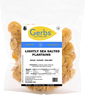 Sponsored Ad - GERBS Lightly Sea Salted Plantain Chips, 32 ounce Bag, Unsulfured, Preservative, Top 14 Food Allergy Free