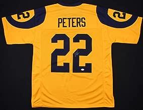 Marcus Peters #22 Signed Los Angeles Rams Jersey (JSA COA) JSA Witnessed