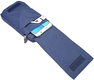 DFV mobile - Multi-functional Belt Wallet Stripes Pouch Bag Case Zipper Closing Carabiner for Asus ROG Phone 3 (2020) - Bl...