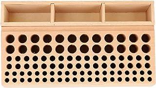 レザークラフト 工具収納 レザークラフトツールホルダー 工具 スタンド ホルダー レザーパンチラック 木製 ツール収納 革細工 ハンドメイド (98穴(Aタイプ))