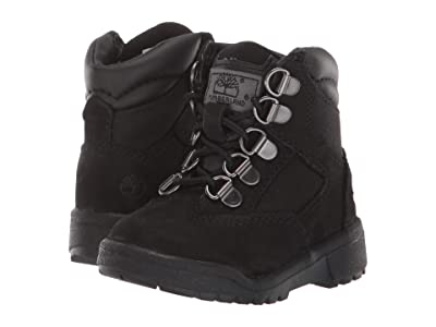 Timberland Kids Field Boot 6 Leather Fabric (Infant/Toddler) (Black Nubuck) Boys Shoes