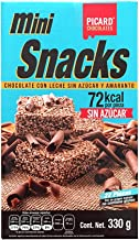 Mini Snacks NO Sugar Gluten Free Delicious Milk Chocolate with Amaranth Bars 72 kcal only per Piece