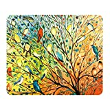 Thick 4mm Gaming Mouse Pad - Personality Mouse Pads with Design - Non Slip Rubber Mouse Mat (Birds)