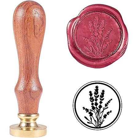 PandaHall Elite-Timbre de Cachet de Cire de blé Vintage Vintage Cachet de cachetage de récolte de blé pour l'embellissement d'enveloppes, Invitations de fête, Paquets de vin, Emballage de Cadeau