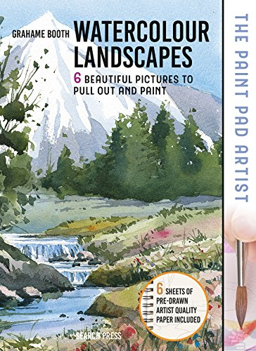 The Paint Pad Artist: Watercolour Landscapes: 6 Beautiful Pictures to Pull-Out and Paint
