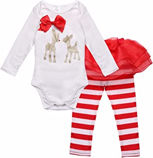 6-24 Mois Solike Cerfs communs V/êtements de No/ël Tout-Petits Enfants gar/çons B/éb/és fillesCombinaison Pyjama Christmas Ensemble