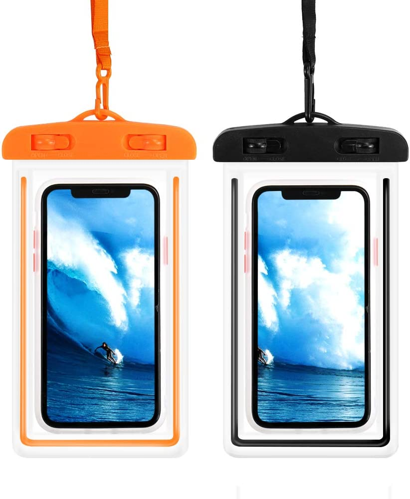 LITTLETREE Universal Waterproof Case,Waterproof Phone Pouch Compatible with iPhone 12/12 Pro Max/11/11 Pro/Xs Max/8P/7P,Galaxy S10/S9 Up to 6.9