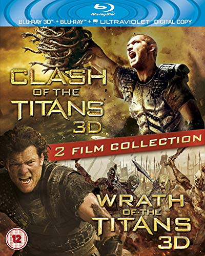 Clash of the Titans 3D / Wrath of the Titans 3D [Blu-ray + Blu-ray 3D + UV Copy] [Region Free] [UK Import]