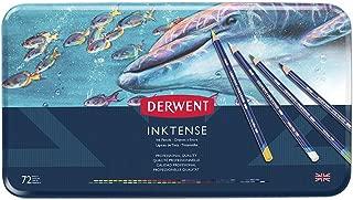Derwent Colored Pencils, Inktense Ink Pencils, Drawing, Art Metal Tin 72 Count Assorted