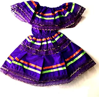 Mexican Infant Dress Size 0 Dress Color Purple Day of The Dead Coco Theme Party Halloween Party
