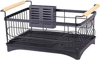 rangement et organisation de cuisine Couche cuve simple égouttoir en acier inoxydable Porte-évier de cuisine Couverts séch...