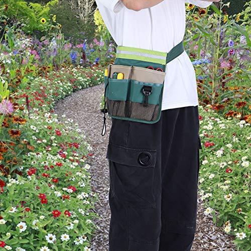 Riñonera de jardín, cinturón de almacenamiento de herramientas, tela Oxford 600D, organizador de herramientas de jardín de gran capacidad, patio de almacén agrícola ajustable para jardín