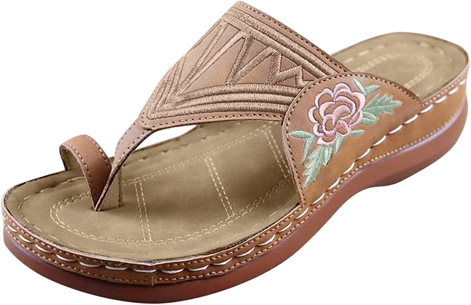 Nihewoo Sandals for Women Casual Size Cheap mail order sales Embroidered Large Gorgeous Summer B