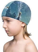 CHLING Kids Swim Cap - Elsa Princess Swimming Cap Children Bathing Hat for Boys and Girls