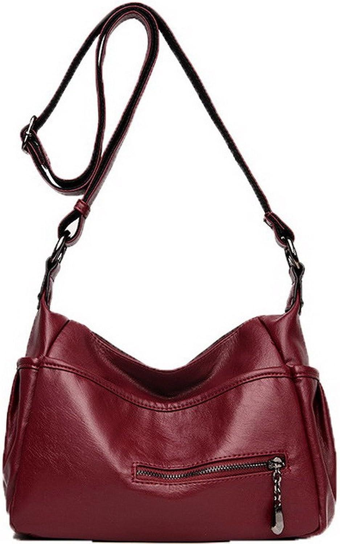 WeenFashion Women's Shopping Bags Pu Zippers Casual Crossbody Bags,AMGBX180932