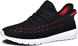 ZUAN Athletic Shoes for Men Sports Shoes Lace Up Style Mesh Substantial Hollow Fashion Stitching Comfy Round Toe