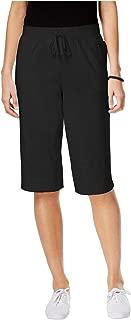 Karen Scott Petite Pull-On Knit Skimmer Shorts Black Size Large