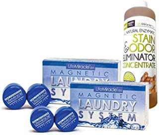 Magnetic Laundry System [Full Pack Special] (MLS x2 + Enzyme Concentrate) The Greener, Non-Toxic, Eco-Friendly, Money Saving, Patented & Proven Laundry Detergent Alternative.