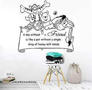 leecal Wall Words Sayings Removable Lettering Winnie The Pooh Quote Tigger Piglet Eeyore for Nursery Kids Bedroom Living Room