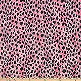 FABRIC BASE, INC Velboa Smooth Wave Prints, Dalmatian Pink Yard